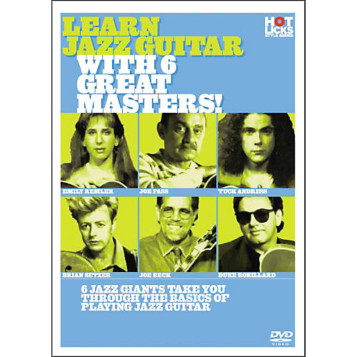 Hot Licks Learn Jazz Guitar With 6 Great Masters DVD
