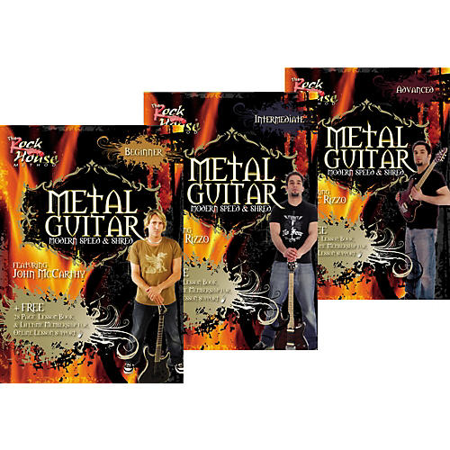 Rock House Learn Metal Guitar Beginner, Intermediate, & Advanced Package