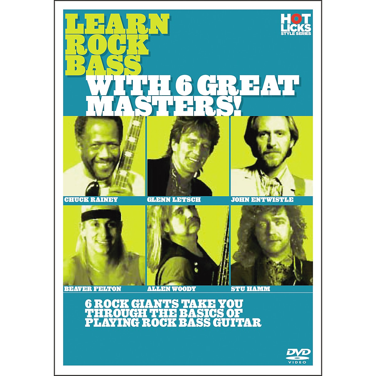 Hot Licks Learn Rock Bass with 6 Great Masters DVD