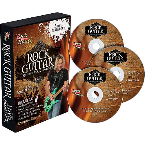 Rock House Learn Rock Guitar: Beginner, Intermediate, and Advanced (3-DVD package)