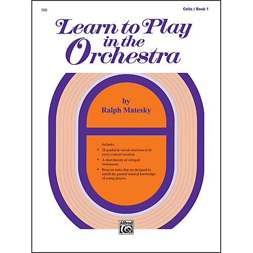Alfred Learn to Play in the Orchestra Book 1 Cello