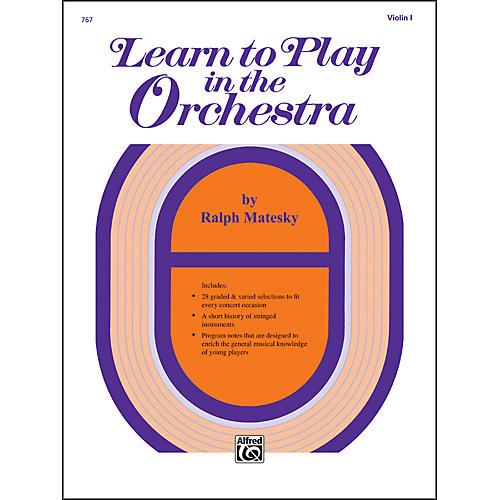 Alfred Learn to Play in the Orchestra Book 1 Violin I