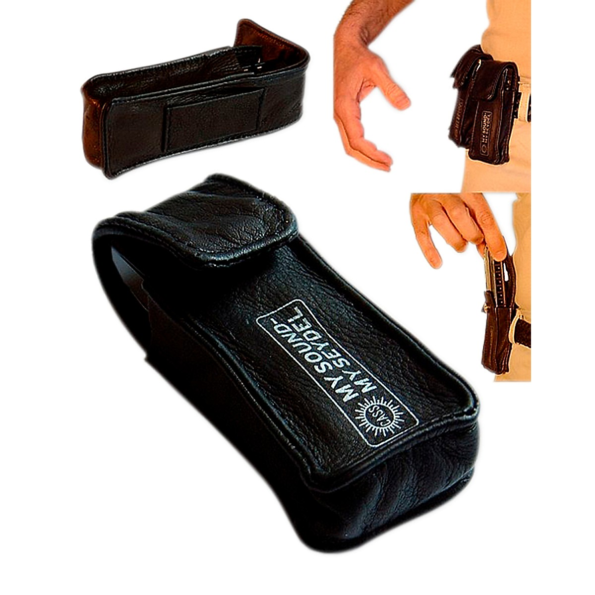 SEYDEL Leather BELT BAG for 1 Blues Harmonica