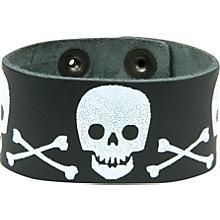 Perri's Leather Bracelet with Screened Skulls