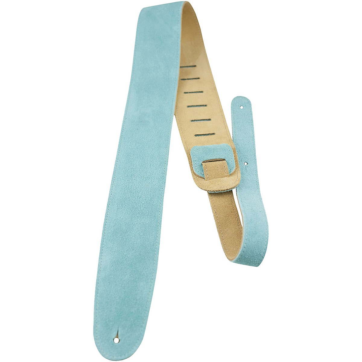 Perri's Leather Guitar Strap with Reversable Natural Suede Backing