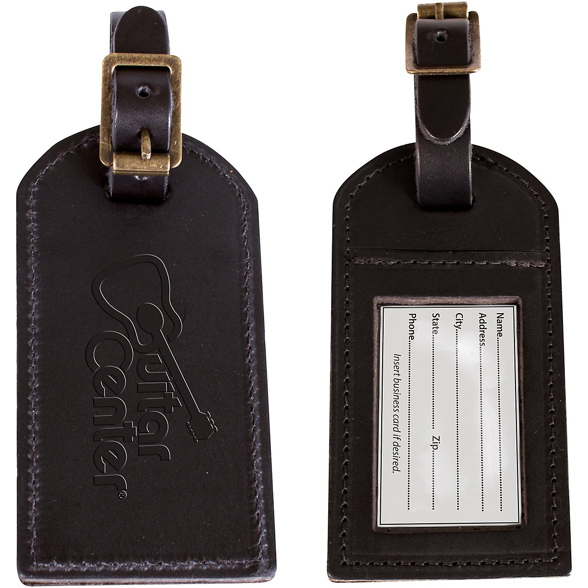 Guitar Center Leather Luggage Tag 2-Pack