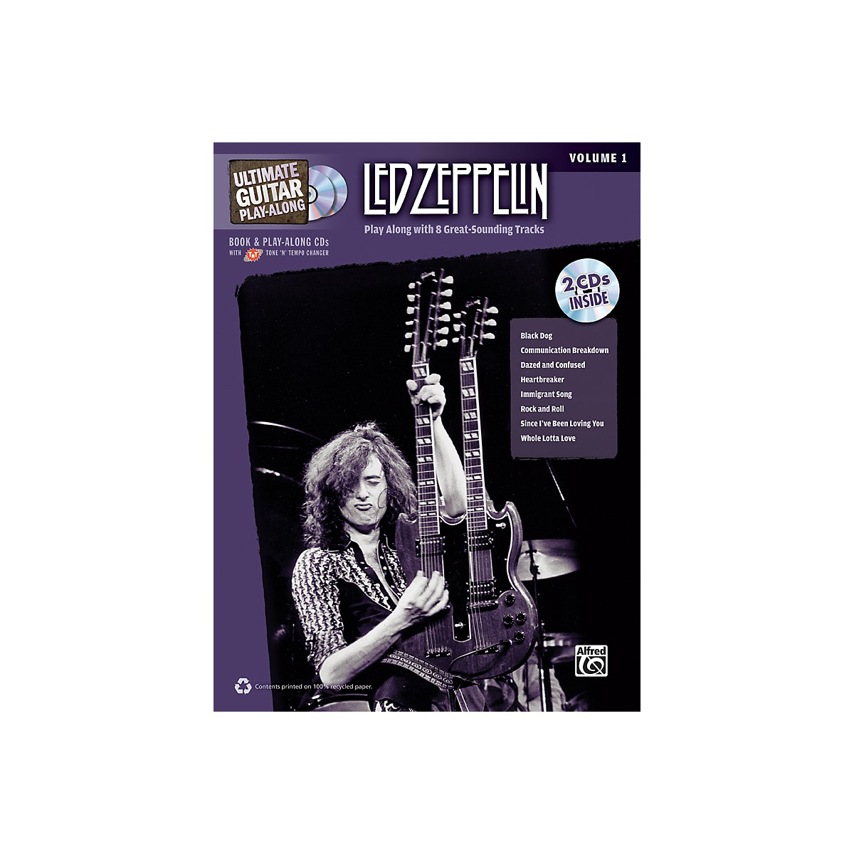 Alfred Led Zeppelin Ultimate Play Along Guitar Volume 1 with 2 CD's
