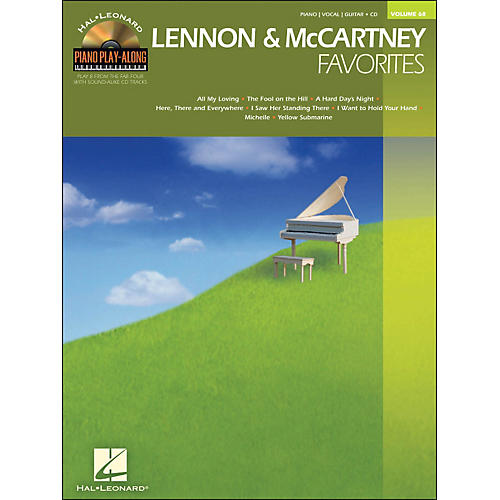 Hal Leonard Lennon & McCartney Favorites - Piano Play-Along Volume 68 (CD/Pkg) arranged for piano, vocal, and guitar (P/V/G)