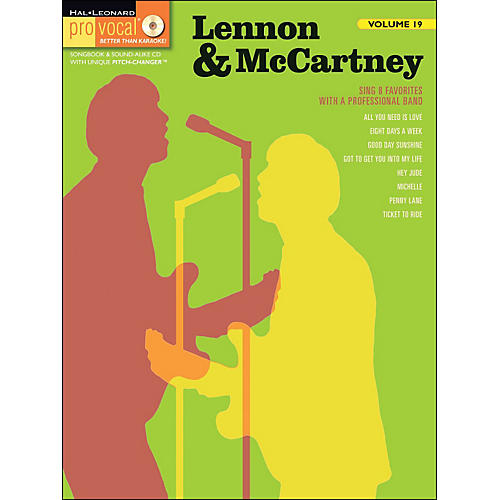 Hal Leonard Lennon & McCartney Pro Vocal Songbook Volume 19 Book/CD
