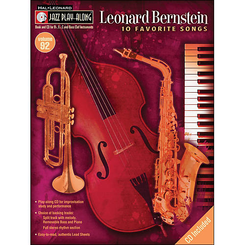 Hal Leonard Leonard Bernstein Jazz Play-Along Volume 92 Book/CD