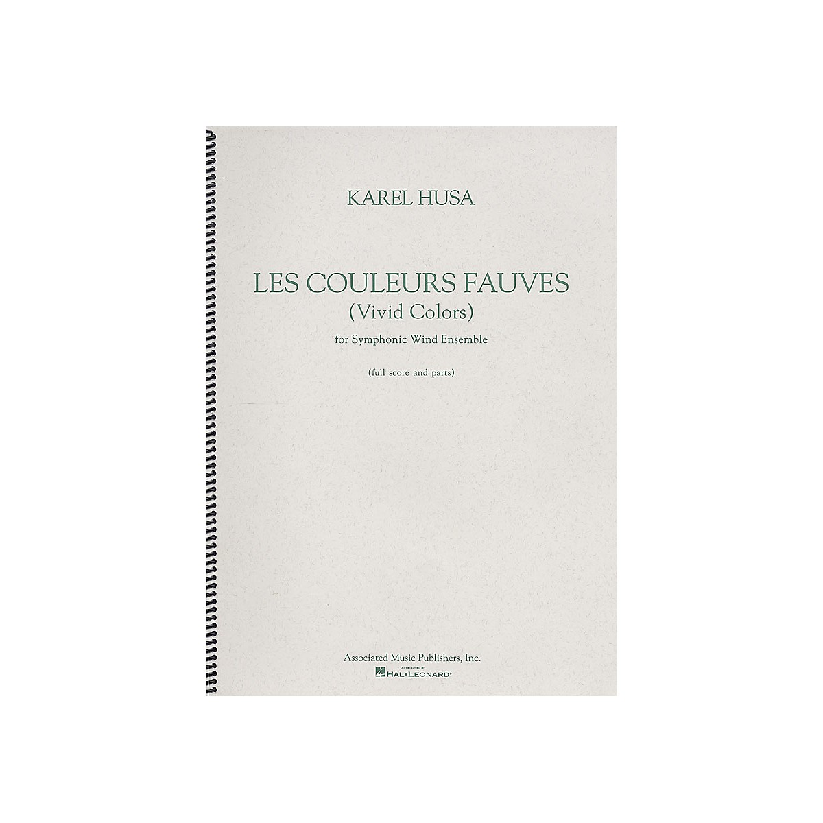 Associated Les Couleurs Fauves (Vivid Colors) G. Schirmer Band/Orchestra Series by Karel Husa