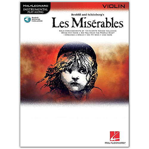 Hal Leonard Les Miserables for Violin - Instrumental Play-Along Book/Online Audio