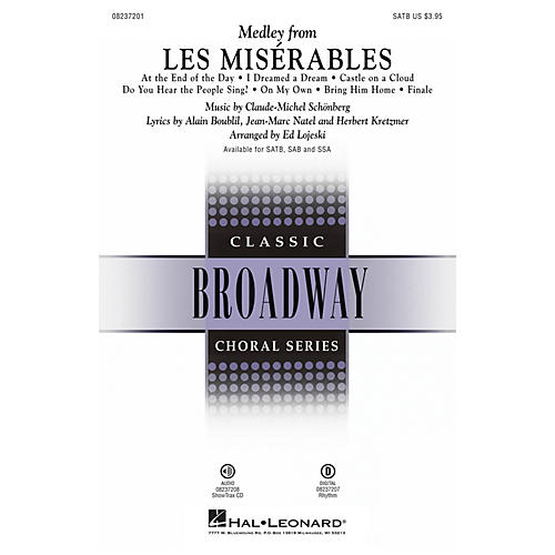 Hal Leonard Les Misérables (Choral Medley) SAB Arranged by Ed Lojeski