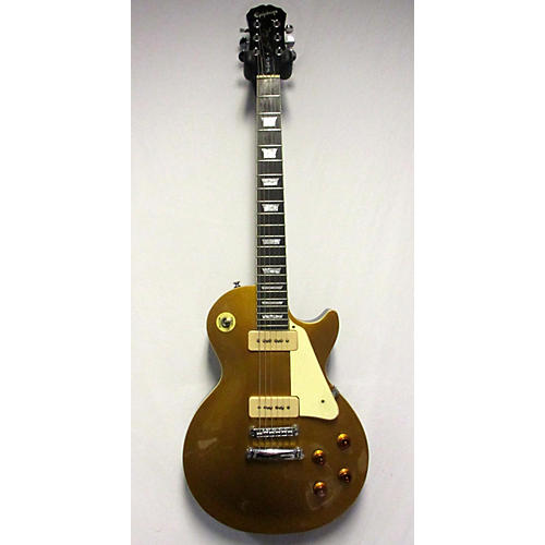 used epiphone les paul 1956 gold top p90s solid body electric guitar gold top guitar center