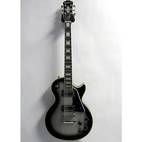 used epiphone les paul custom pro solid body electric guitar silverburst guitar center. Black Bedroom Furniture Sets. Home Design Ideas