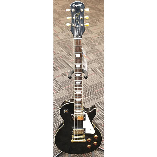 used epiphone les paul custom solid body electric guitar black and gold guitar center. Black Bedroom Furniture Sets. Home Design Ideas