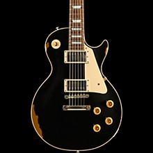 Les Paul Standard Limited Run - Solid Body Electric Guitar Black over Shoreline Gold Aged White Pearl Pickguard