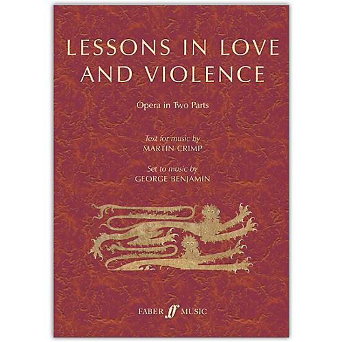Faber Music LTD Lessons in Love and Violence Libretto