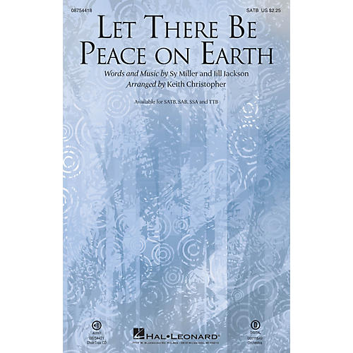 Hal Leonard Let There Be Peace On Earth SAB Arranged by Keith Christopher