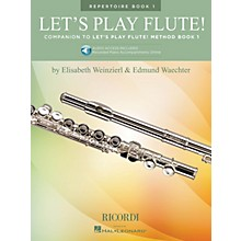Ricordi Let's Play Flute! - Repertoire Book 1 Woodwind Method Series Softcover Audio Online