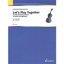 Schott Let's Play Together (16 Little Performance Pieces for 2 Cellos) String Series Softcover