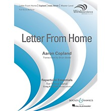 Boosey and Hawkes Letter from Home Concert Band Level 4 composed by Aaron Copland arranged by Brian Belski