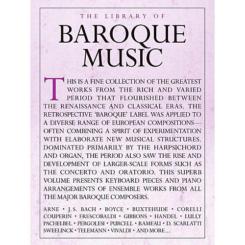 Music Sales Library Of Baroque Music - Piano Solo