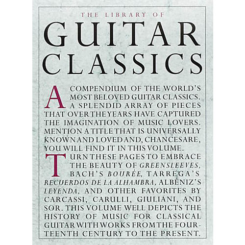 Music Sales Library Of Guitar Classics