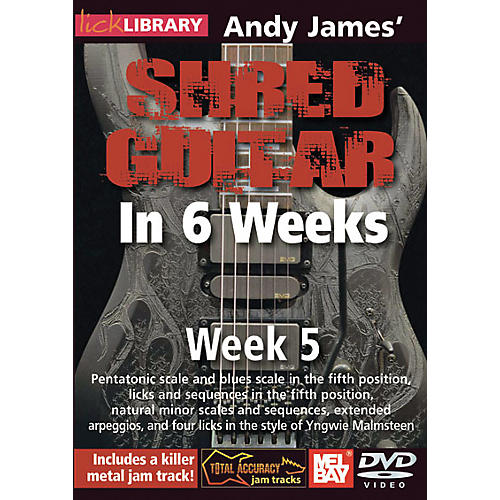 Mel Bay Lick Library Andy James' Shred Guitar in 6 Weeks DVD Guitar Course
