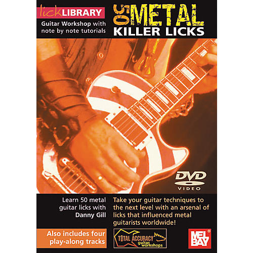 Mel Bay Lick Library Learn To Play 50 Metal Killer Licks DVD