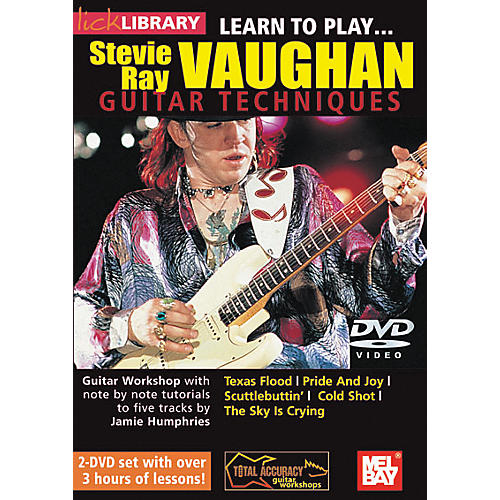 Mel Bay Lick Library Learn to Play Stevie Ray Vaughan Guitar Techniques Volume 1 2 DVD Set