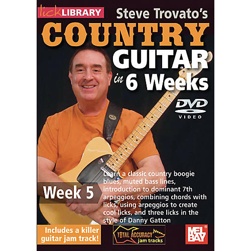 Mel Bay Lick Library Steve Trovato's Country Guitar in 6 Weeks DVD Guitar Course