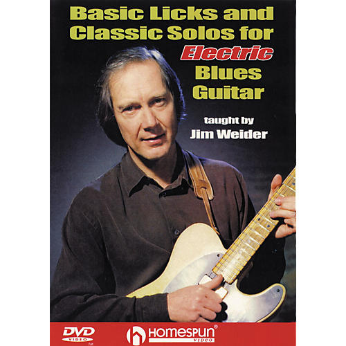 Homespun Licks and Solos for Electric Blues Guitar (DVD)