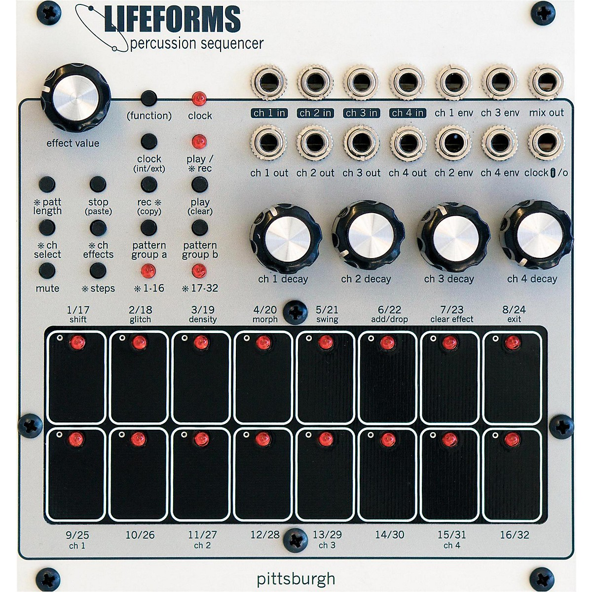 Pittsburgh Modular Synthesizers Lifeforms Percussion Sequencer