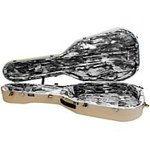 Hiscox Cases Lifelflite Artist Acoustic Guitar Case - Ivory Shell/Silver Interior Level 2 Regular 190839266934