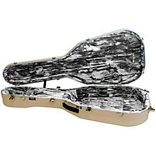 Hiscox Cases Lifelflite Artist Acoustic Guitar Case - Ivory Shell/Silver Interior