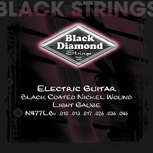 Black Diamond Light Gauge Black Coated Nickel Electric Guitar Strings