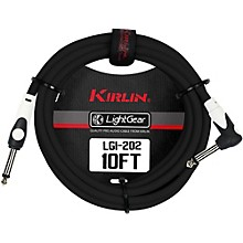 KIRLIN LightGear Straight to Right Angle Instrument Cable, Black Level 1 10 ft.