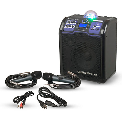 VocoPro LightShow Karaoke PA System with Bluetooth, LED Light and Rechargeable Battery