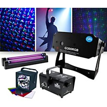 VEI Lighting Effects Package with G300RGB Laser, ADJ VBar Pak and Fog Machine