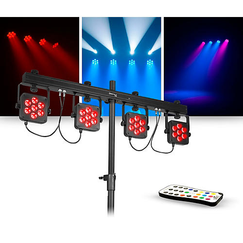 CHAUVET DJ Lighting Package with 4BAR Flex T USB RGB LED Wash Light Effect and IRC 6 Controller