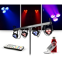 CHAUVET DJ Lighting Package with 4BAR LT USB RGB LED Effect Light, D-Fi USB Wireless Transmitter and IRC-6 Remote