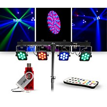 CHAUVET DJ Lighting Package with 4BAR Tri USB RGB Fixture, IRC-6 Remote and D-FI Controller.
