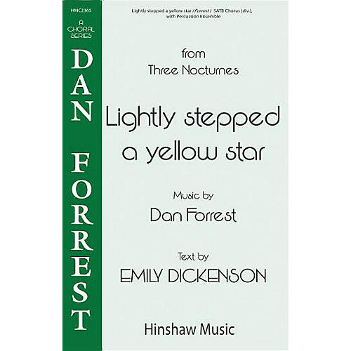Hinshaw Music Lightly Stepped a Yellow Star SSAATTBB composed by Dan Forrest