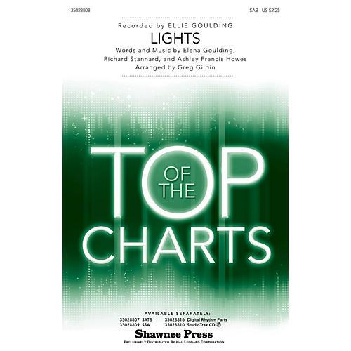 Shawnee Press Lights SAB by Ellie Goulding arranged by Greg Gilpin