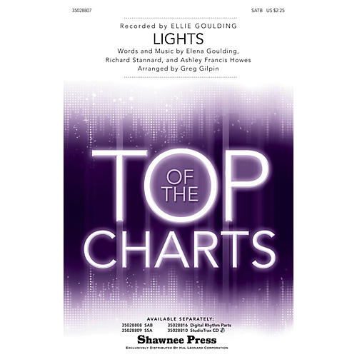 Shawnee Press Lights SATB by Ellie Goulding arranged by Greg Gilpin