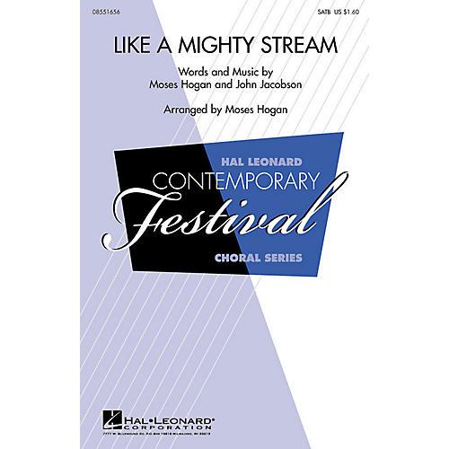 Hal Leonard Like a Mighty Stream SAB Arranged by Moses Hogan