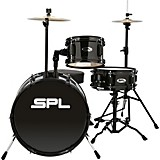 Sound Percussion Labs Lil Kicker - 3 Piece Jr Drum Set with Throne Black
