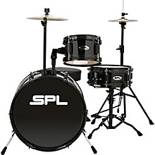 Sound Percussion Labs Lil Kicker - 3 Piece Jr Drum Set with Throne Level 1 Black