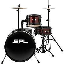 Sound Percussion Labs Lil Kicker - 3 Piece Jr Drum Set with Throne Level 1 Wine Red